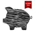 Pig money bank icon vector image vector image