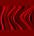 red fabric silk satin wave soft luxury vector image vector image