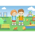 school children on a playground outdoors vector image