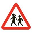school warning sign vector image vector image