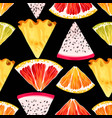 seamless fruit pattern vector image vector image