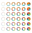 Segmented pie charts and arrows set