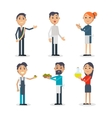 Set of People at Festival of Olives in Spain vector image vector image