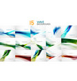 set of wave abstract business backgrounds vector image vector image