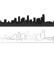silhouette of city 10 vector image vector image