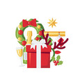 simple christmas design in flat style vector image