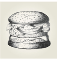 Sketch of a hamburger vector image