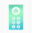 smart home app interface mobile ui vector image