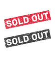 sold out red grunge stamp vector image