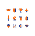 strategy icons set vector image
