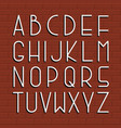thin retro font english alphabet vector image vector image