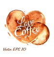 Traces Coffee Heart vector image