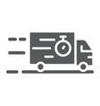 truck glyph icon delivery and shipping lorry vector image