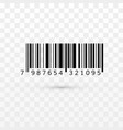 unique realistic bar code striped identification vector image vector image