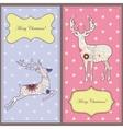 Vintage cards with deers vector image
