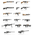 Weapon and gun set collection icons 01 vector | Price: 1 Credit (USD $1)