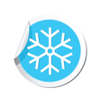 Weather forecast snowflake icon vector image vector image