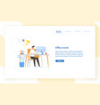 web banner template with programmer or coder vector image