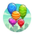 with cute cartoon balloons vector image vector image