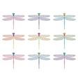 dragonfly symbols vector image