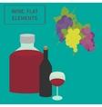wine flat elements vector image