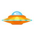 ufo ship icon for web vector image