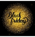 Black Friday Lettering over Gold vector image