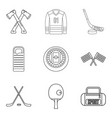 preparation icons set outline style vector image