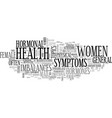 a guide to general female health text word cloud vector image vector image