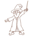 A simple drawing of a wizard vector image