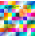 abstract colorful square pattern background vector image