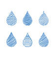abstract drops water vector image vector image