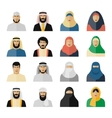 Arab people icons vector image vector image