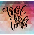Around the world type design vector image