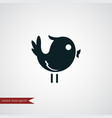 bird icon simple vector image