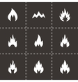black fire icon set vector image
