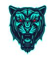 black panther sport mascot logo vector image vector image