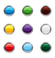 buttons for website icons set cartoon style vector image vector image