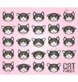 cat emoticon vector image vector image