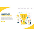 celebrate achievement website landing page vector image vector image