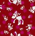 Christmas Reindeers vector image vector image