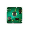 circuit board technology icon vector image vector image