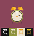clock icon flat green analog vector image vector image