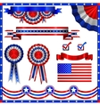 Collection of usa patriotic emblems vector