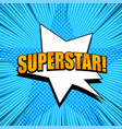 comic page superstar template vector image