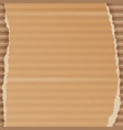 corrugated cardboard background realistic vector image vector image
