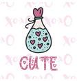cute card cartoon vector image vector image