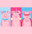 cute pig fairytale unicorn with a horn and a vector image vector image