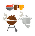 different kitchenware for cooking vector image vector image