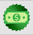 dollar currency banknote icon in flat style vector image vector image